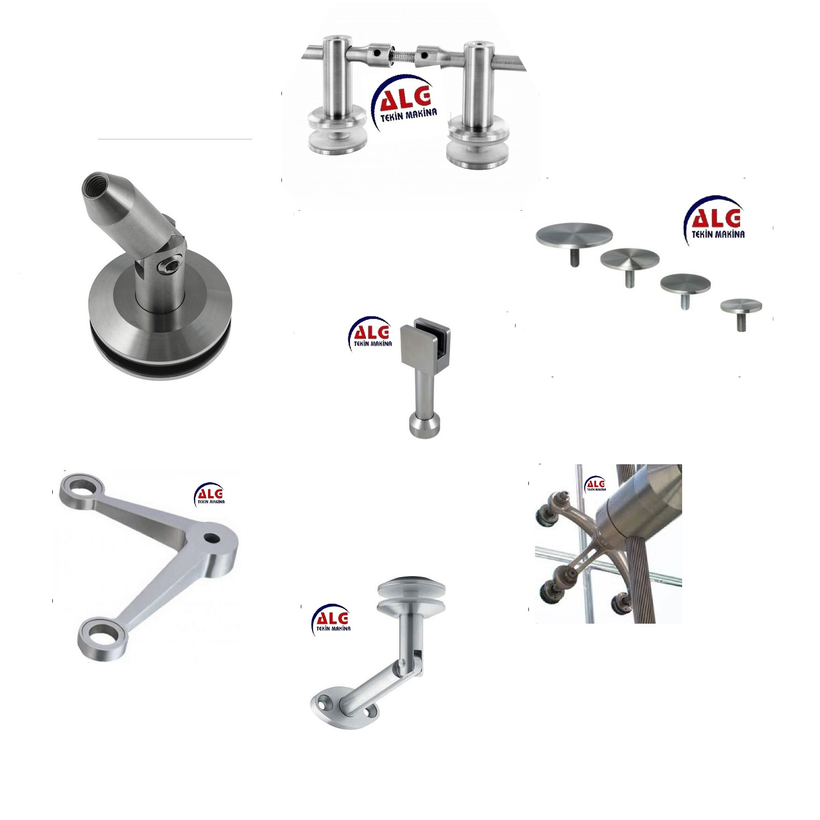 Produced Spider Stainless Glass Holders CNC-LATHE-CNC-MACHINING-CENTER